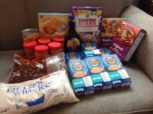 March haul for the Food Bank